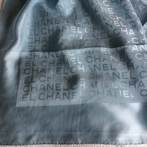 Authentic Chanel 100% silk scarf.